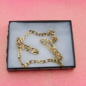 Figaro 18K Gold Tone Stainless Steel Necklace